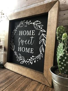 Excited to share this item from my shop: Home Sweet Home sign with wreath, farmhouse welcome sign, farmhouse decor, wall hanging, rustic wall decor White Wall Decor, Rustic Wall Decor, Rustic Walls, Farmhouse Decor, Farmhouse Style, Home Decor Signs, Easy Home Decor, Handmade Home Decor, Handmade Signs