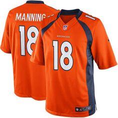 Men's Denver Broncos Peyton Manning Nike Orange Limited Jersey