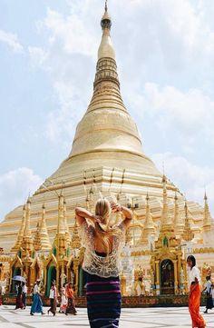 """Shwedagon Pagoda - Yangoon, Myanmar notquiteindianajones """"The great Golden Shwedagon Pagoda"""