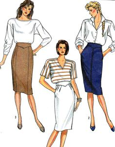 1980s Skirt Pattern Simplicity 8505 Shaped by paneenjerez on Etsy, $12.00
