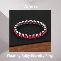 Ruby Eternity Ring, Eternity Bands, Custom Jewelry, Jewelry Collection, Wedding Bands, White Gold, Beaded Bracelets, Gemstones, Meet