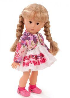 Götz Puppenmanufaktur Puppe Just like me Paula 27 cm blonde Haare braune Augen
