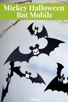 When you're ready to start decorating for Halloween, don't fly under the radar. Instead, turn heads with a colony of adorable Mickey bats. This too-cute-to-be-afraid-of Mickey Halloween Bat Mobile is the perfect addition to your seasonal decor. Click for the DIY Mickey Halloween tutorial.