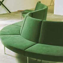 Larissa Carbone - Google+ Para a Nossa Coleção:  LOBBY PLUS Sectional Modular Sofa, design by Harri Korhonen (1995)