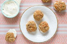 Mini Carrot Cake Cookie Sandwiches With Cream Cheese Frosting.