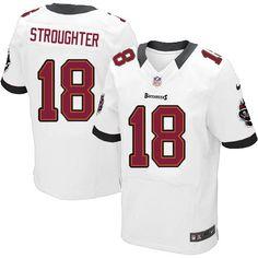ce5bfb04a ... Men Nike Tampa Bay Buccaneers 18 Sammie Stroughter Elite White NFL  Jersey Sale ...