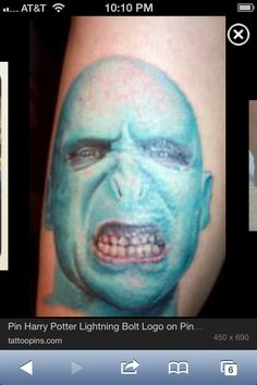 Voldemort tattoo, for real?