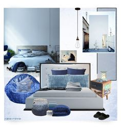 """Cozy Blue"" by rainie-minnie ❤ liked on Polyvore featuring interior, interiors, interior design, home, home decor, interior decorating, Ace Bayou, NOVICA, Franklin Iron Works and Dearfoams"