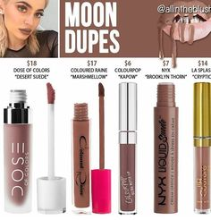 Moon #KylieLipKit #Dupes #Moon