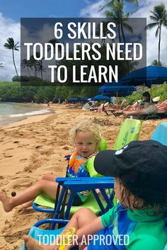 6 Skills Toddlers Need to Learn! These are skills toddlers need to start learning in order to navigate life successfully! Lots of parenting resources and tips are included too!