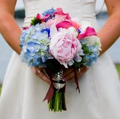 peony and hydrangea bouquets are in my dreams.