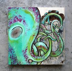 """Deepest high""  20 cm x 20 cm, Woodburning/Acrylic/Collage on wood"