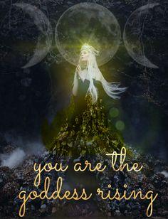 are the Goddess rising Divine Goddess, Triple Goddess, Goddess Art, Moon Goddess, Sacred Feminine, Feminine Energy, Divine Feminine, Wicca, Magick