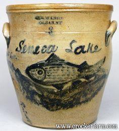 May 2006 Highlights - Crocker Farm Stoneware Auction Stoneware Crocks, Antique Stoneware, Antique Pottery, Earthenware, Antique Crocks, Old Crocks, Glazes For Pottery, Ceramic Pottery, Glazed Pottery