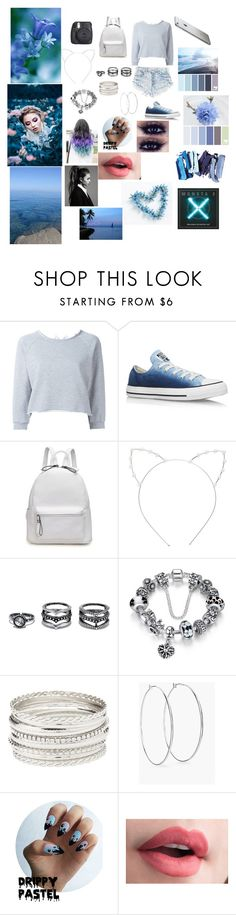 """""""Meeting up with MONSTA X"""" by trust-kashmir ❤ liked on Polyvore featuring GaÃ«lle Bonheur, Converse, Cara, LULUS, Charlotte Russe and Chico's"""
