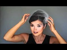 How to wear birdcage veil INSERT COMB, STYLE ON SIDE OVER THE TOP, PETITE