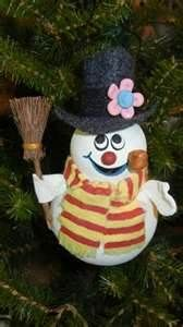 homemade gourd ornament and so cute