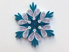 Snowflakes Blue White Frosty Christmas Tree Decor Winter Ornaments Gift Toppers Fillers Office Corporate Paper Quilling Quilled Handmade Art This is a unique handmade quilled snowflake! Amazing Christmas gift for Your loved ones and suitable for all winter occasions. You can hang it
