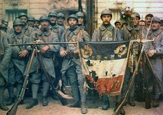French soldiers at Paris in 14 July 1917.