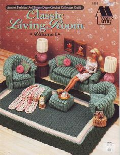 Crochet Doll Furniture. The link is in Russian but with Google Translate it shouldn't be aproblem
