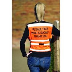 Equisafety Air Waist Coat Passing Message - Orange