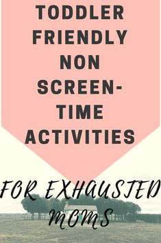 Toddler Friendly Activities Instead of Screen Time {Easy Solutions for Exhausted Moments} | The Mom and a Blog