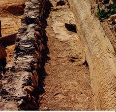 Atop the Caesarea Maritima Aqueduct, Israel - Herod's port city, 1988