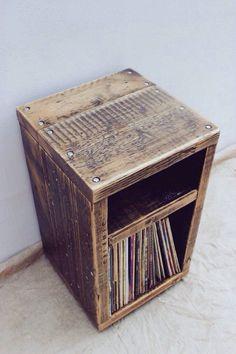 Reclaimed Wood Side Table - Handmade & Bespoke by OldManAndMagpie on Etsy