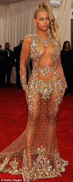 Met Gala's good and bad and nearly naked with Beyonce, Kim Kardashian and Rihanna | Daily Mail Online