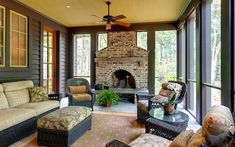 There is a bluestone terrace and a screened porch with a fireplace.
