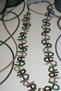 long #necklace in pvc camouflage color #jewellery #bigiotteria #collane #bijoux isaboobijoux.blogspot.it