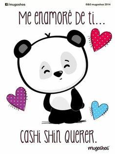 Bello Panda Love, Panda Bear, Love Poems, Love Quotes, Cute Love, Love You, Drawings For Boyfriend, Baby Posters, Quotes En Espanol