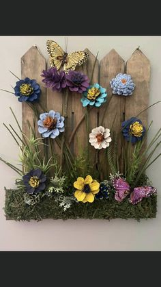 Diy Home Crafts, Garden Crafts, Cute Crafts, Creative Crafts, Pine Cone Art, Pine Cone Crafts, Pine Cones, Flower Crafts, Diy Flowers