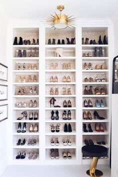 shoe closet goals to the max