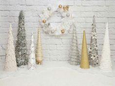 White. .home made trees