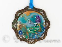 Mermaid Pendant Siren Pendant Mermaid Art Pendant par DeidreDreams, $140.00