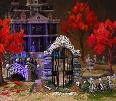 A new bone gateway for anyone who likes Lemax. Favorite Holiday, Holiday Fun, Halloween Village Display, Hawthorne Village, Halloween Entertaining, Lemax Village, Halloween Horror, Samhain, Holidays Halloween