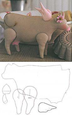 Выкройка тильда корова скачать в рисунках | тильда мастер (тильдамастер)