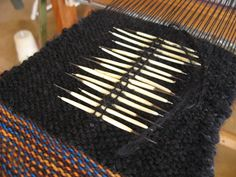 SAORI Weaving Class … use of porcupine quills as decorative elements