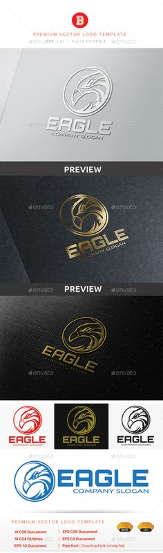 Eagle Logo — Vector EPS #calligraphy #hotel • Available here → graphicriver.net/...