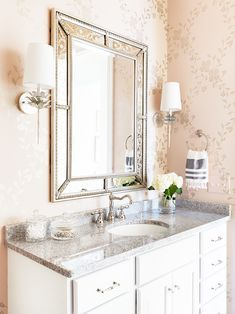 Bathroom Mirrors Ideas Decor Design Inspirations For - Bathroom mirror with wall sconces