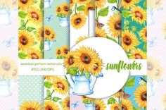 Sunflower Pattern @creativework247