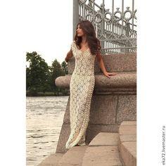 Длинное платье вязаное - Katerina Ryabikova - Ярмарка Мастеров http://www.livemaster.ru/item/7172133-odezhda-dlinnoe-plate-vyazanoe