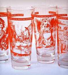 Alice in Wonderland Glassware - Set of 4 | Home Dining & Barware | QUENCH Glassware | Scoutmob Shoppe | Product Detail