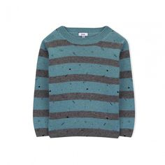 Vortex Knitted Sweater Stylish Kids Clothing by Knot Jumper for boy, knitted in wool and cashmere, round neckline and long sleeves. Thinking of happy, carefree and active boys, Knot presents this garment influenced by the science fiction world and its galactic magic, with the exclusive pattern. Made in Portugal. Colour: Neppy Stripes Fabric and care: 40% Wool, 30% Viscose, 20% Polyamide, 10% Cashmere. Size note: True to size. #kidsclothing #tinypeopleshop #kidsfashion #kidsclothes #kidsstyle… Stylish Little Boys, Stylish Kids, Baby Boutique Clothing, Kids Clothing, Cool Kids Clothes, People Shopping, Kids Branding, Striped Fabrics, Science Fiction