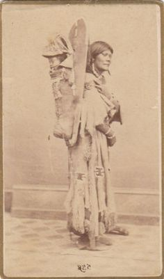 Wonderful-Native-American-CDV-of-Indian-Woman-in-Great-Pose-w-Baby-amp-Papoose