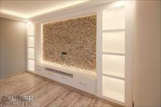 Salon - Living Room - - Salon – Living Room Projects to Try Salon – Wohnzimmer Tv Cabinet Design, Tv Unit Design, Tv Wall Design, Ceiling Design, Tv Above Fireplace, Modern Fireplace, Tv Wanddekor, Tv Wall Decor, Living Room Tv