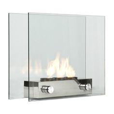 Portátil de vidro temperado Lareira