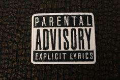 Parental Advisory Explicit Lyrics Ironon Patch. 3 by LeRockShop, $3.00