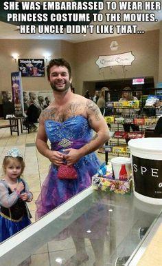 He even has a purse. Lol. Go uncle!!!!